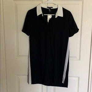 Collar short sleeve polo dress